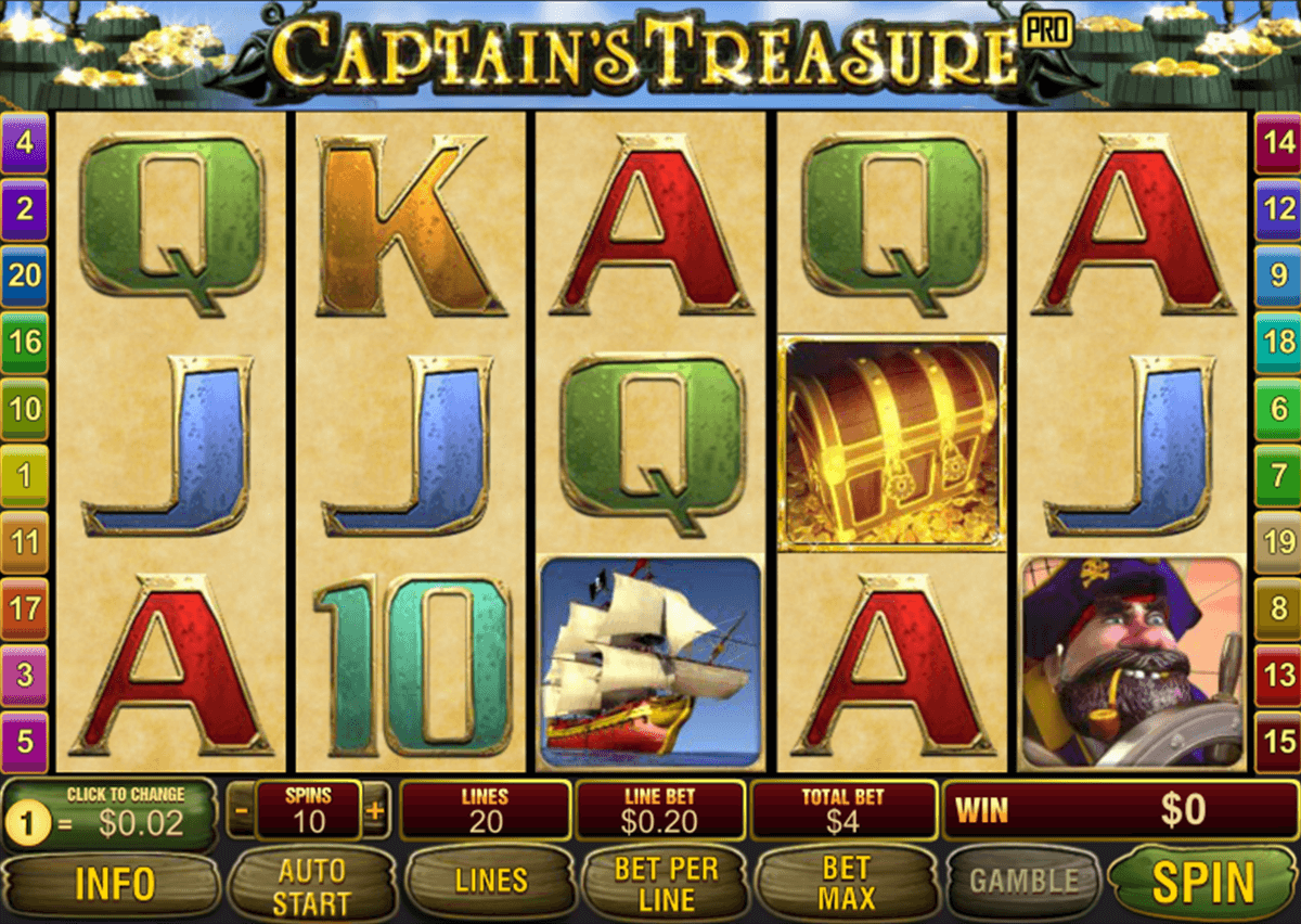 captains treasure pro playtech casino slot spel