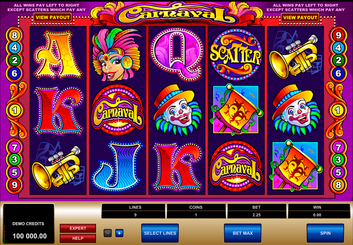 carnaval microgaming casino slot spel