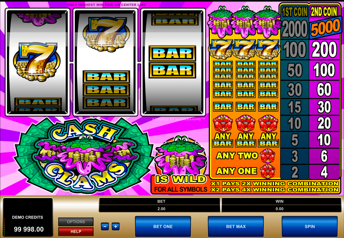 cash clams microgaming casino slot spel