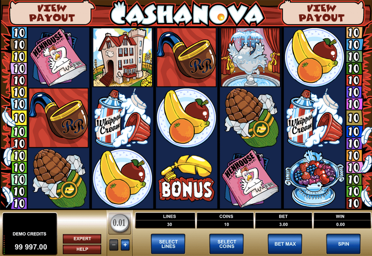cashanova microgaming casino slot spel