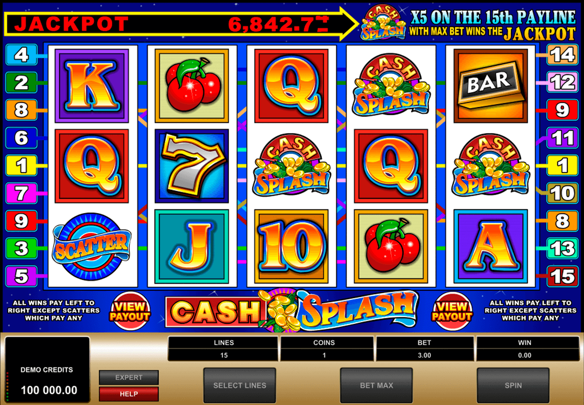 cashsplash video slot microgaming casino slot spel