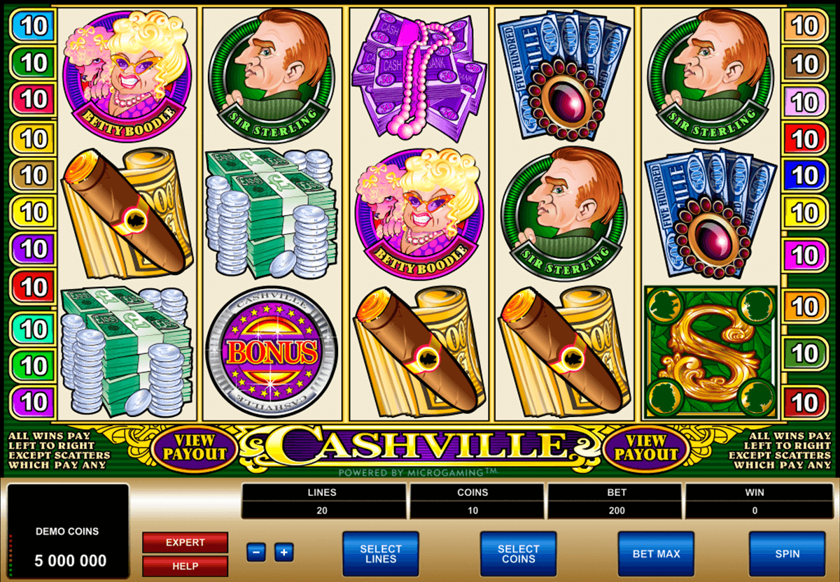 cashville microgaming casino slot spel