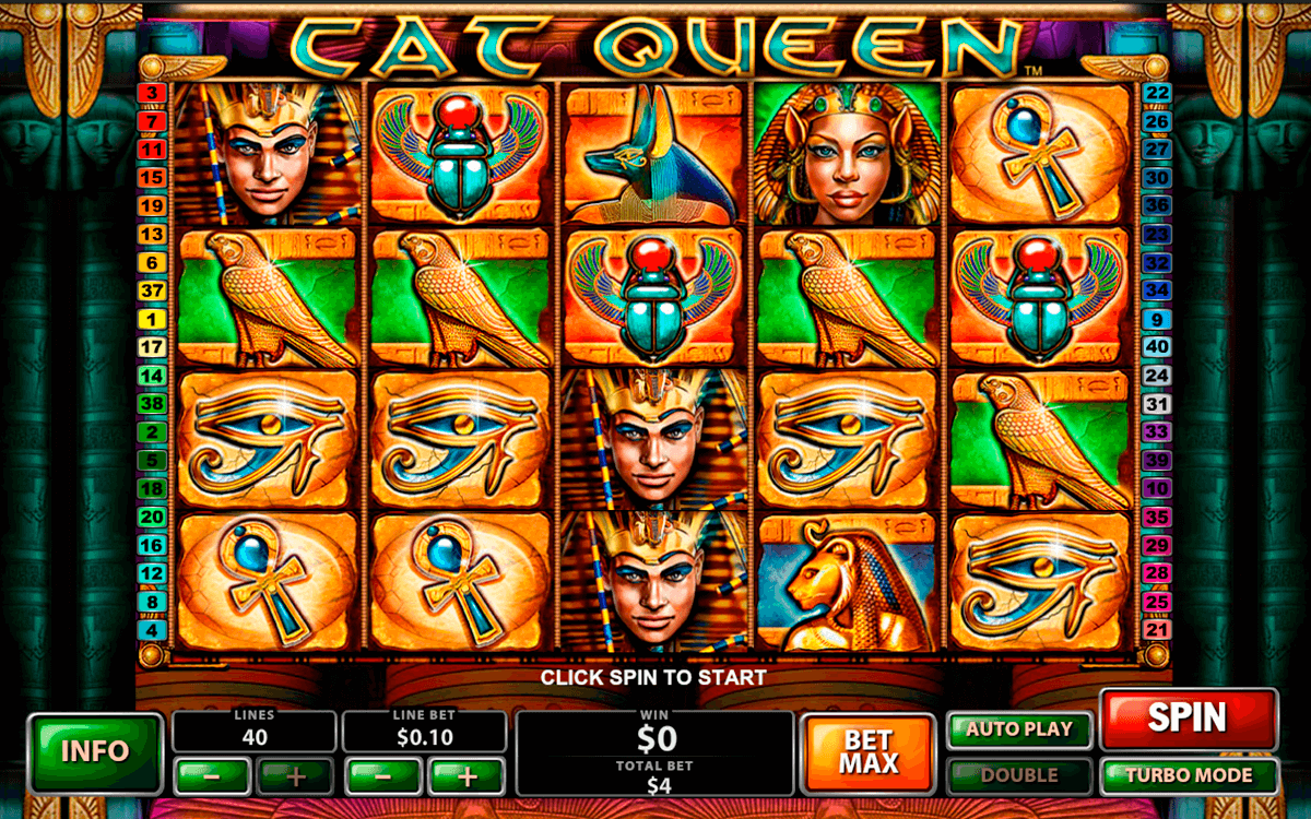 cat queen playtech casino slot spel
