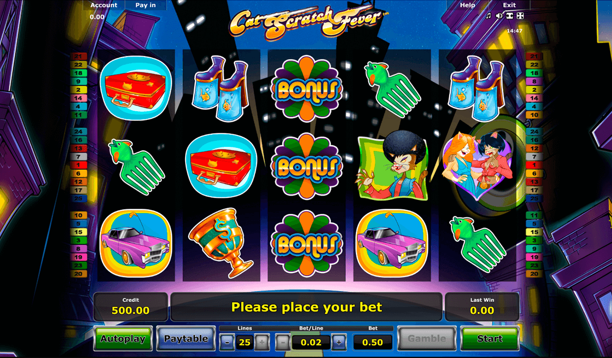cat scratch fever novomatic casino slot spel