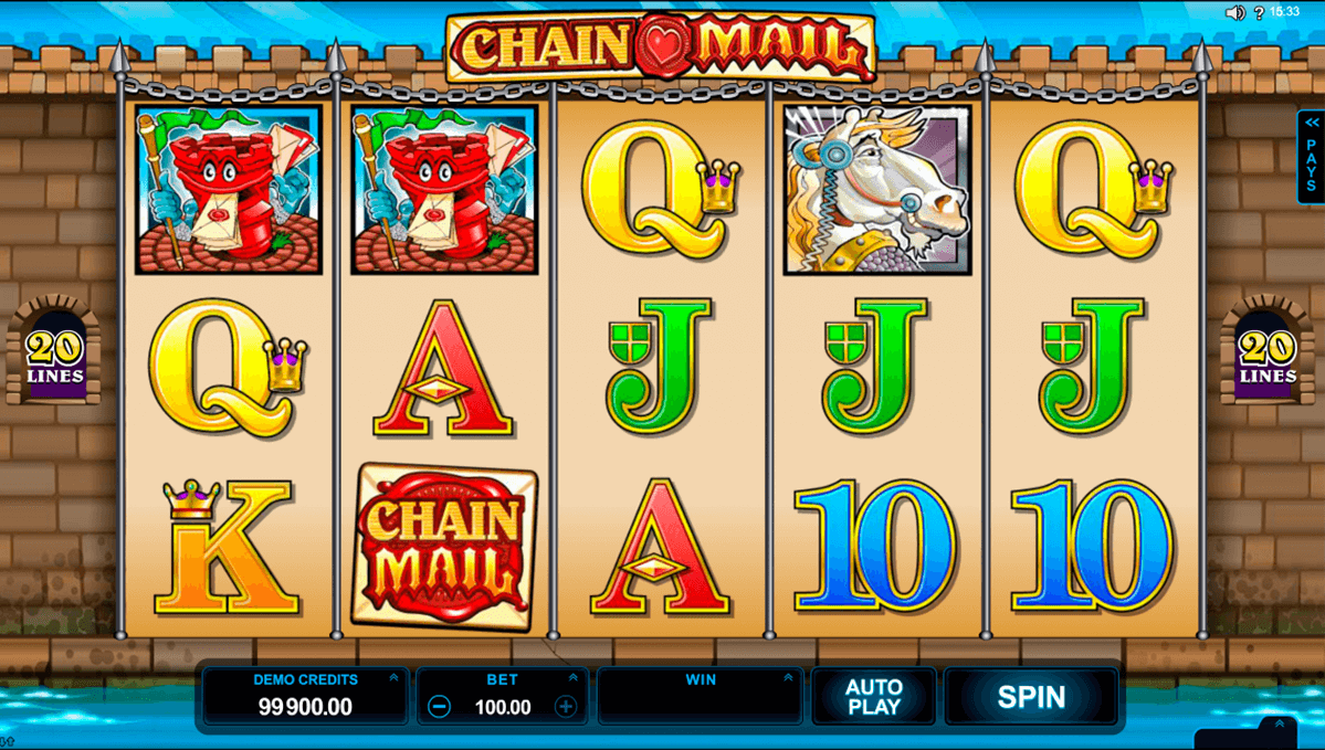 chain mail microgaming casino slot spel