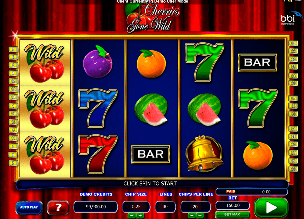 cherries gone wild microgaming casino slot spel