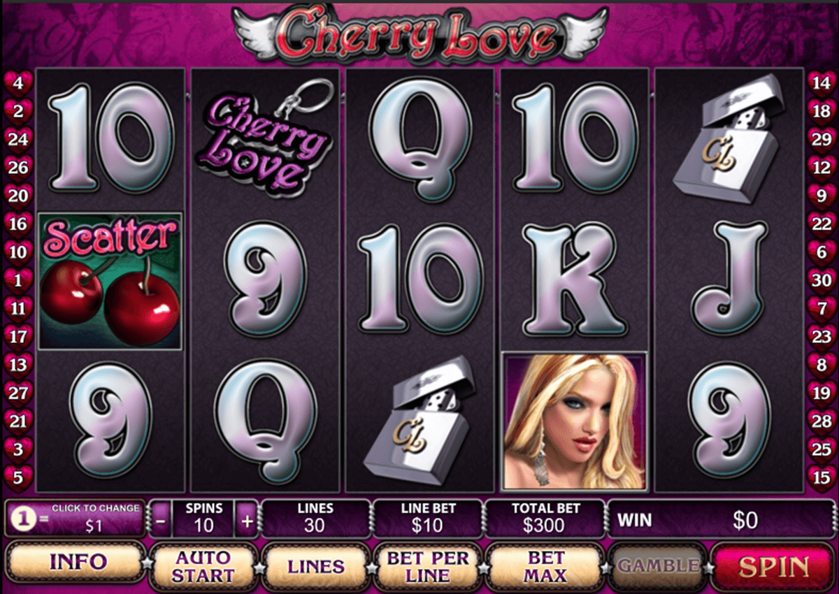 cherry love playtech casino slot spel