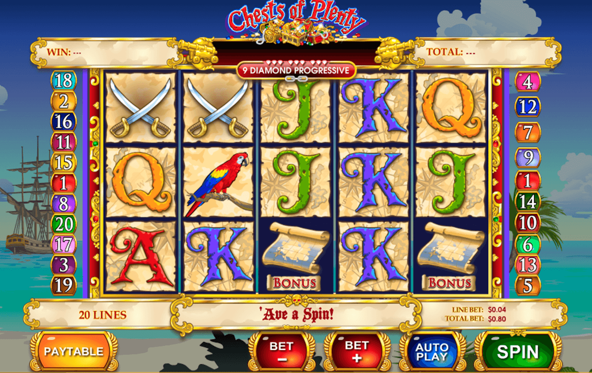 chest of plenty playtech casino slot spel