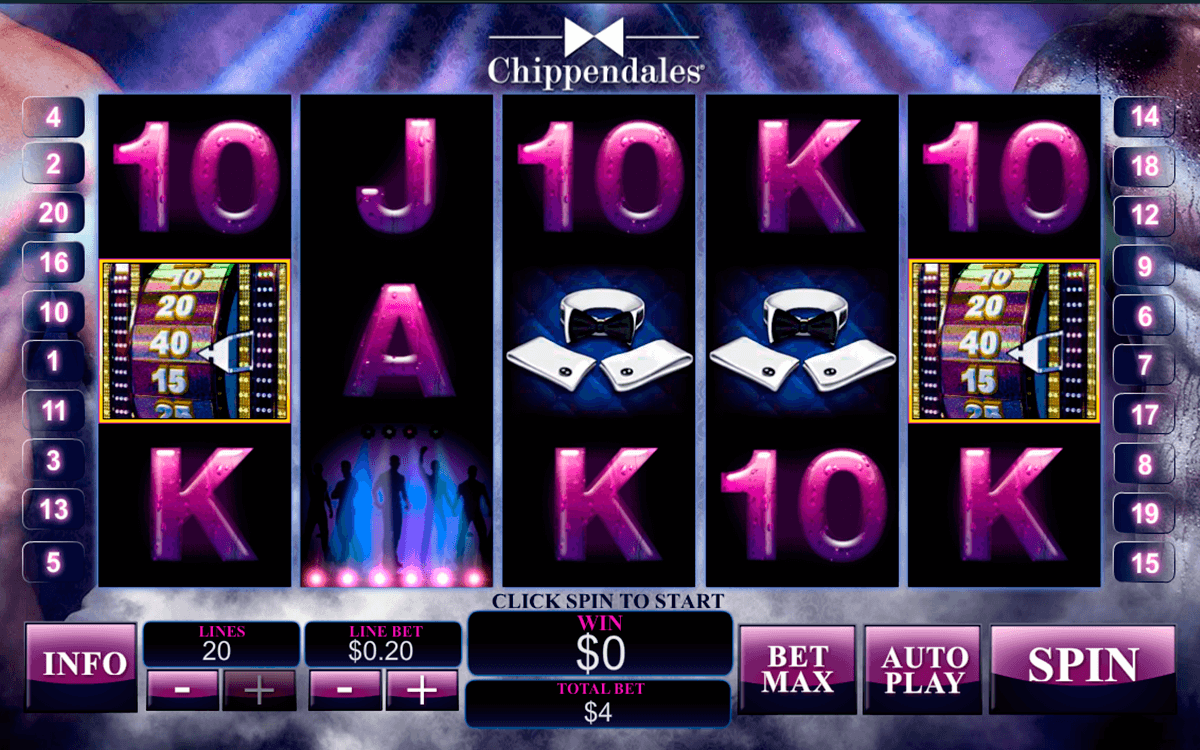 chippendales playtech casino slot spel