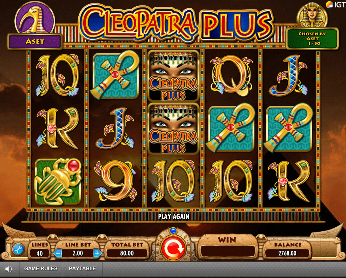 cleopatra plus igt casino slot spel