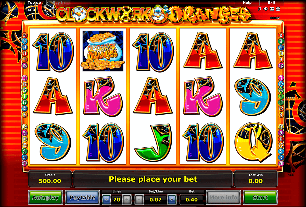 clockwork oranges novomatic casino slot spel