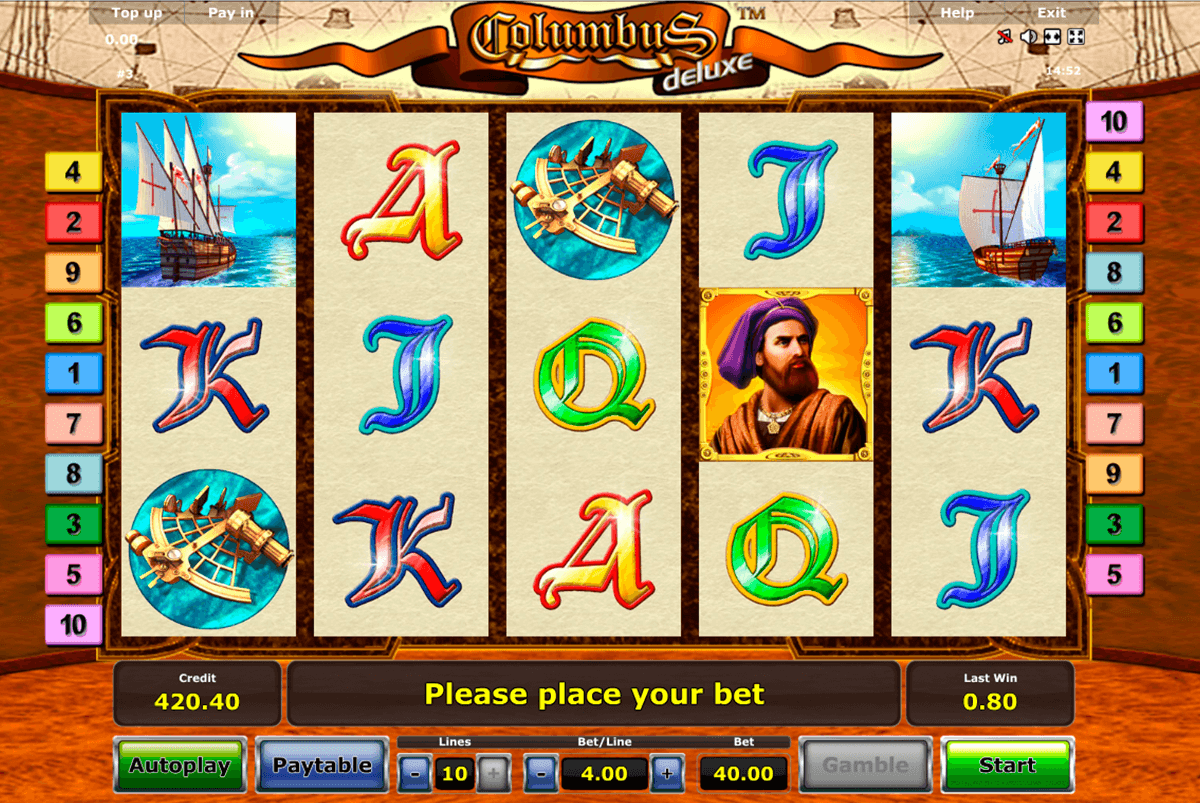 columbus deluxe novomatic casino slot spel