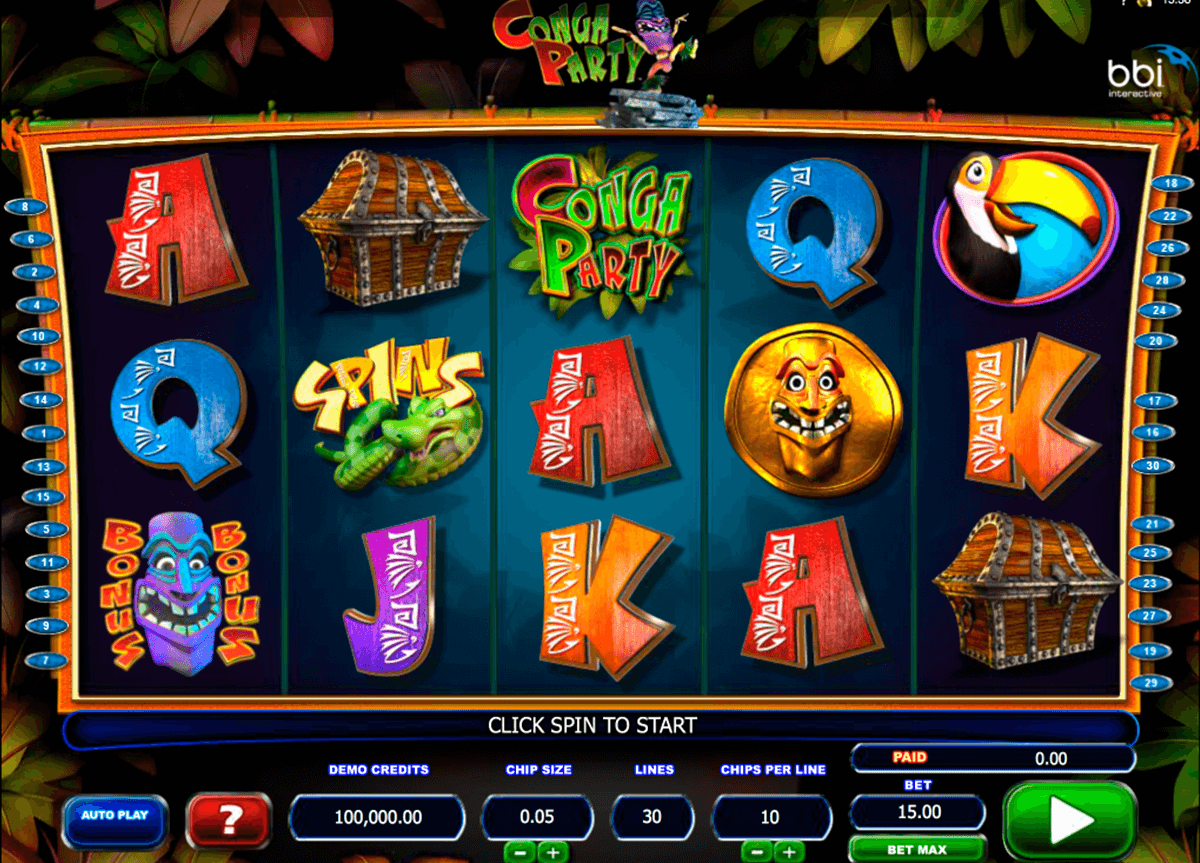 conga party microgaming casino slot spel