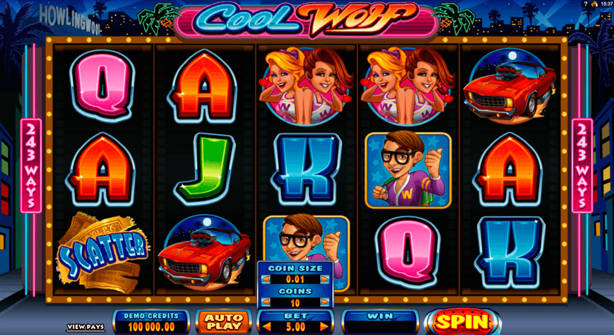 cool wolf microgaming casino slot spel