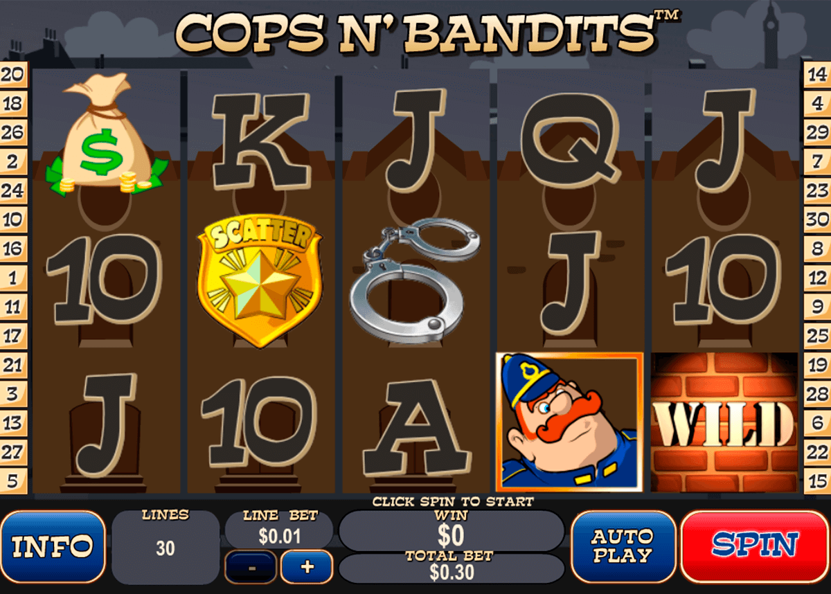 cops n bandits playtech casino slot spel