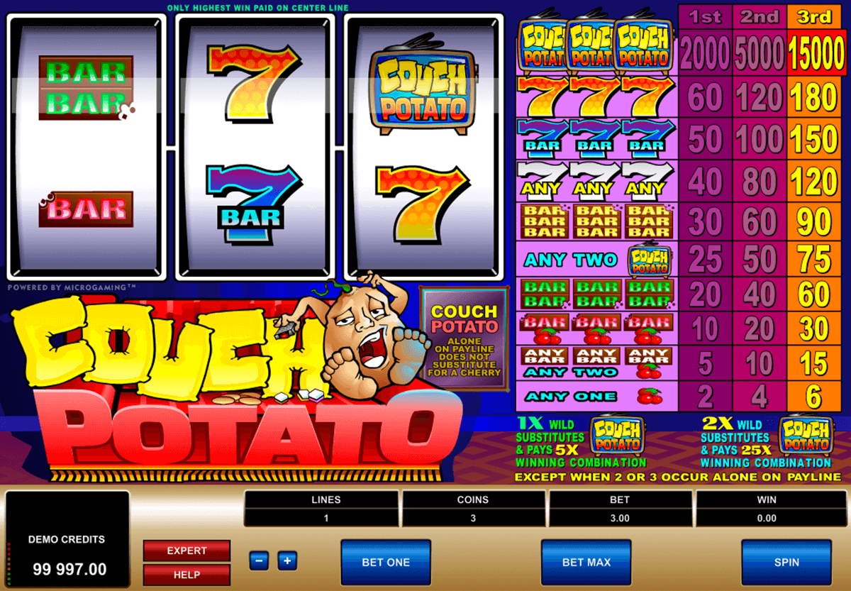 couch potato microgaming casino slot spel