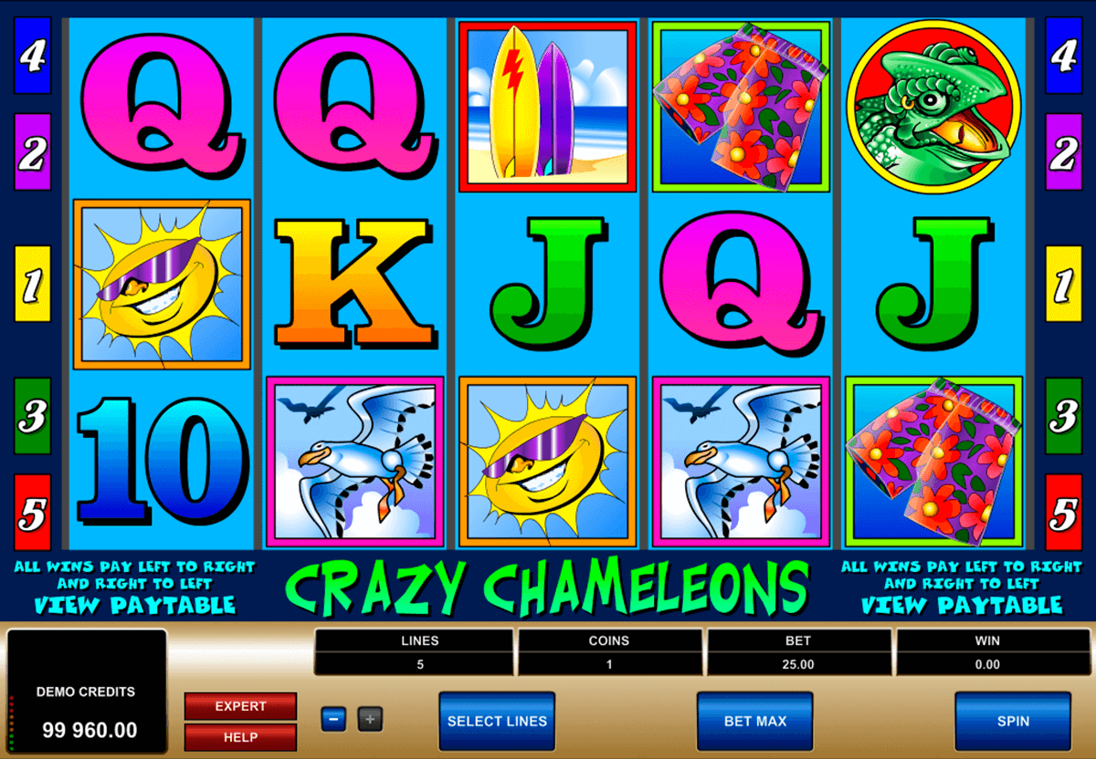 crazy chameleons microgaming casino slot spel