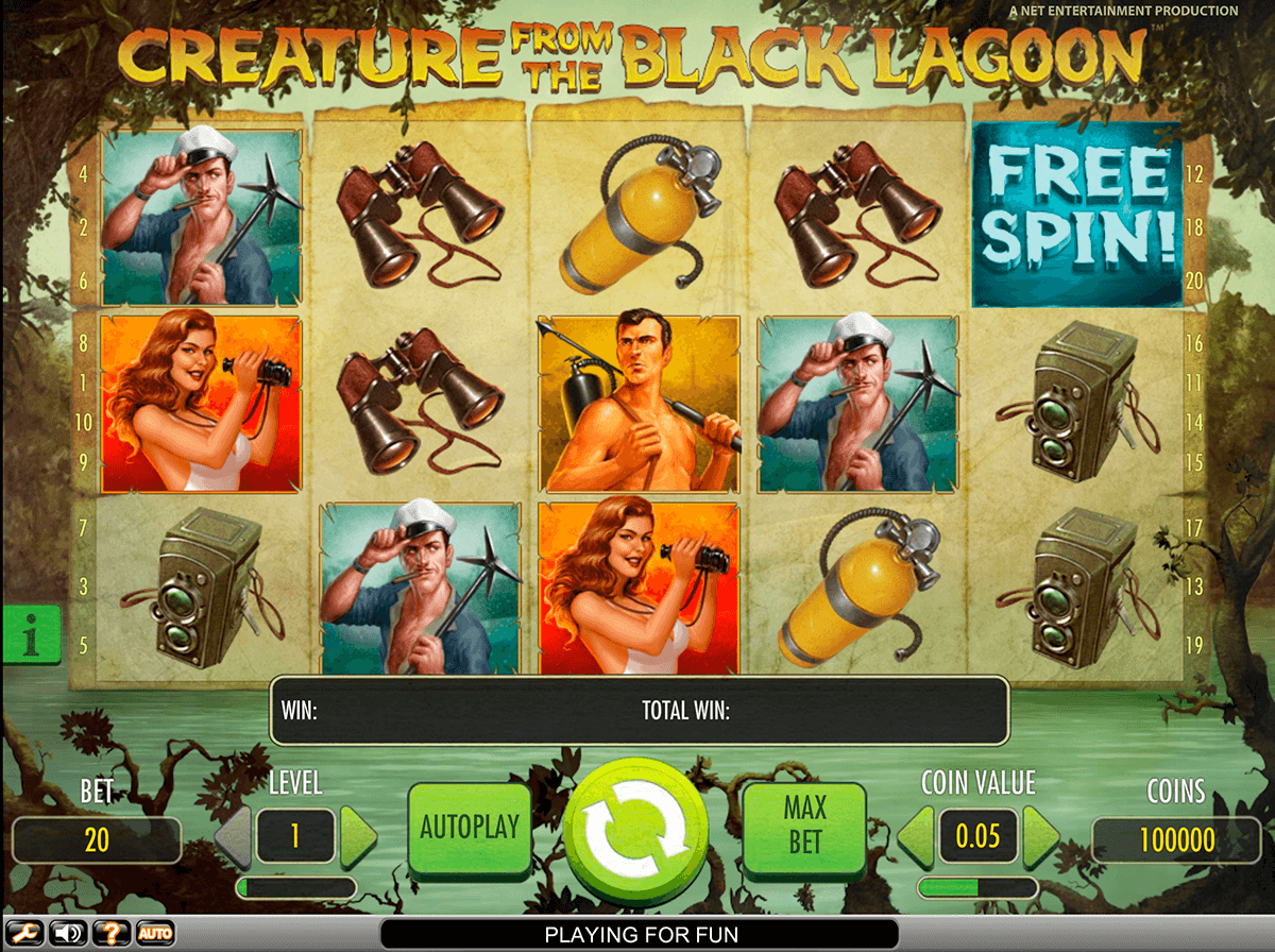 creature from the black lagoon netent casino slot spel