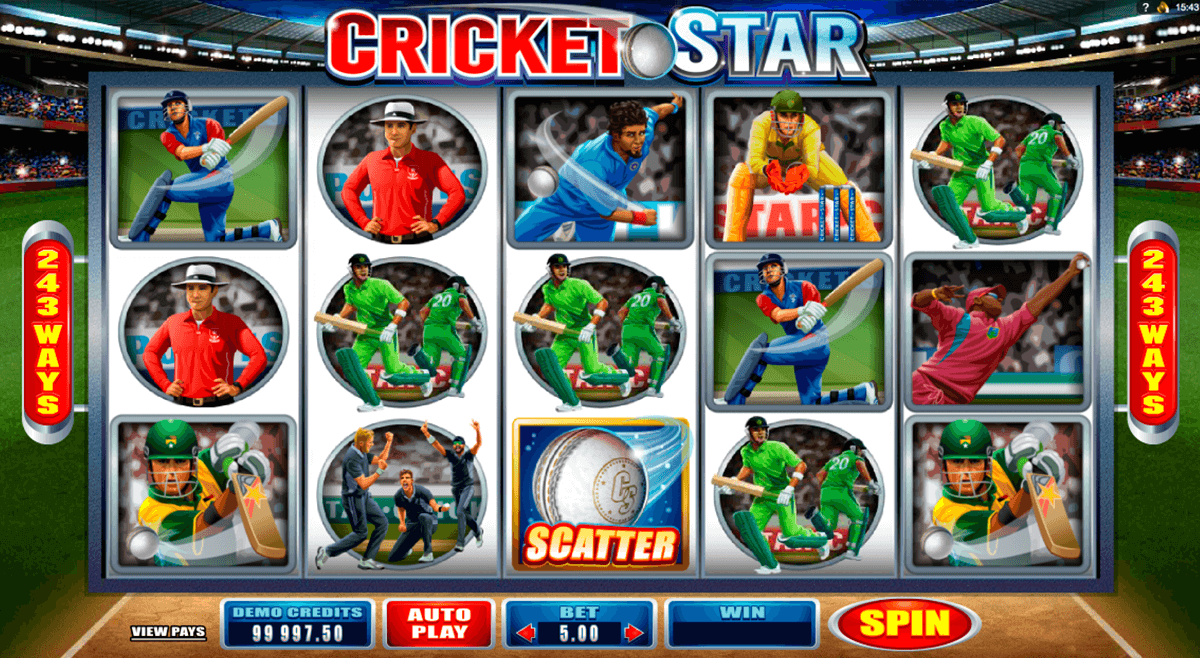 cricket star microgaming casino slot spel