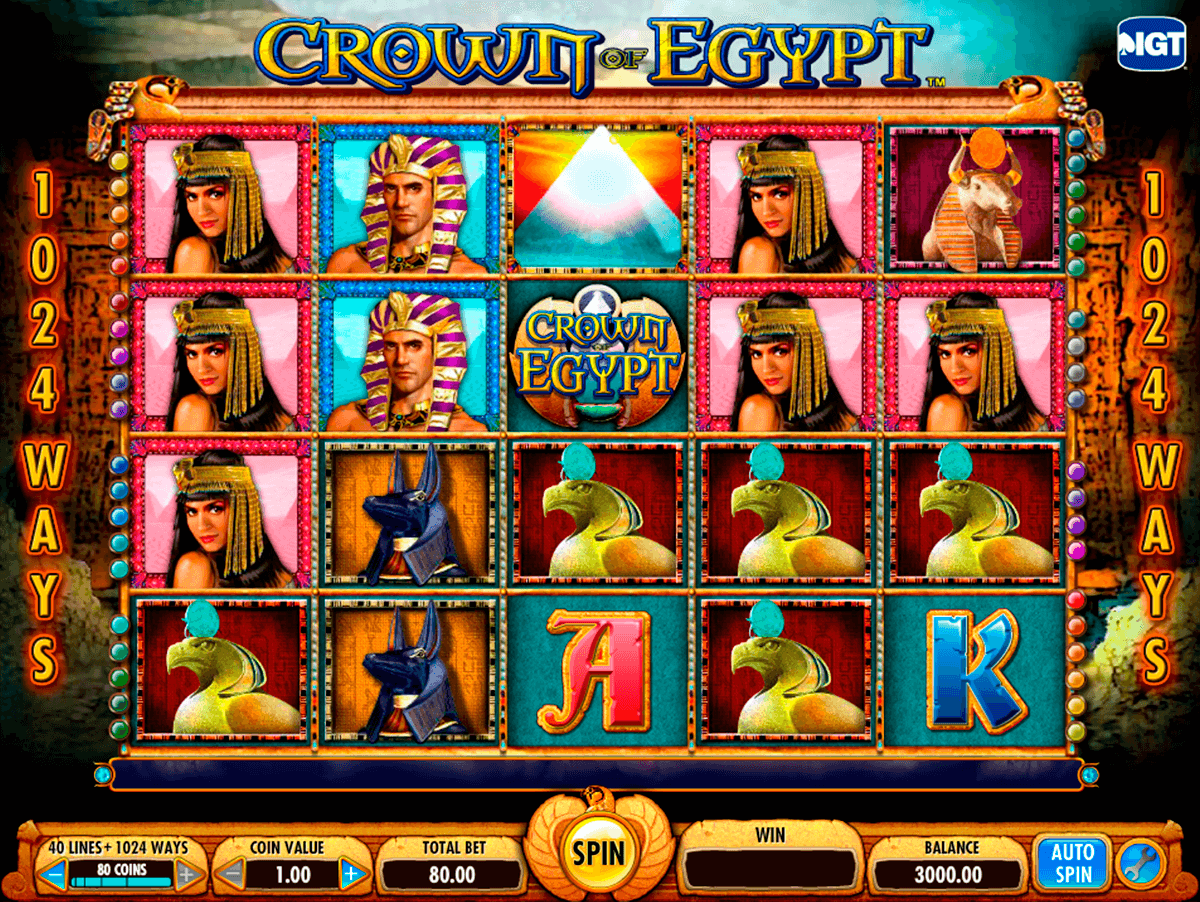 crown of egypt igt casino slot spel
