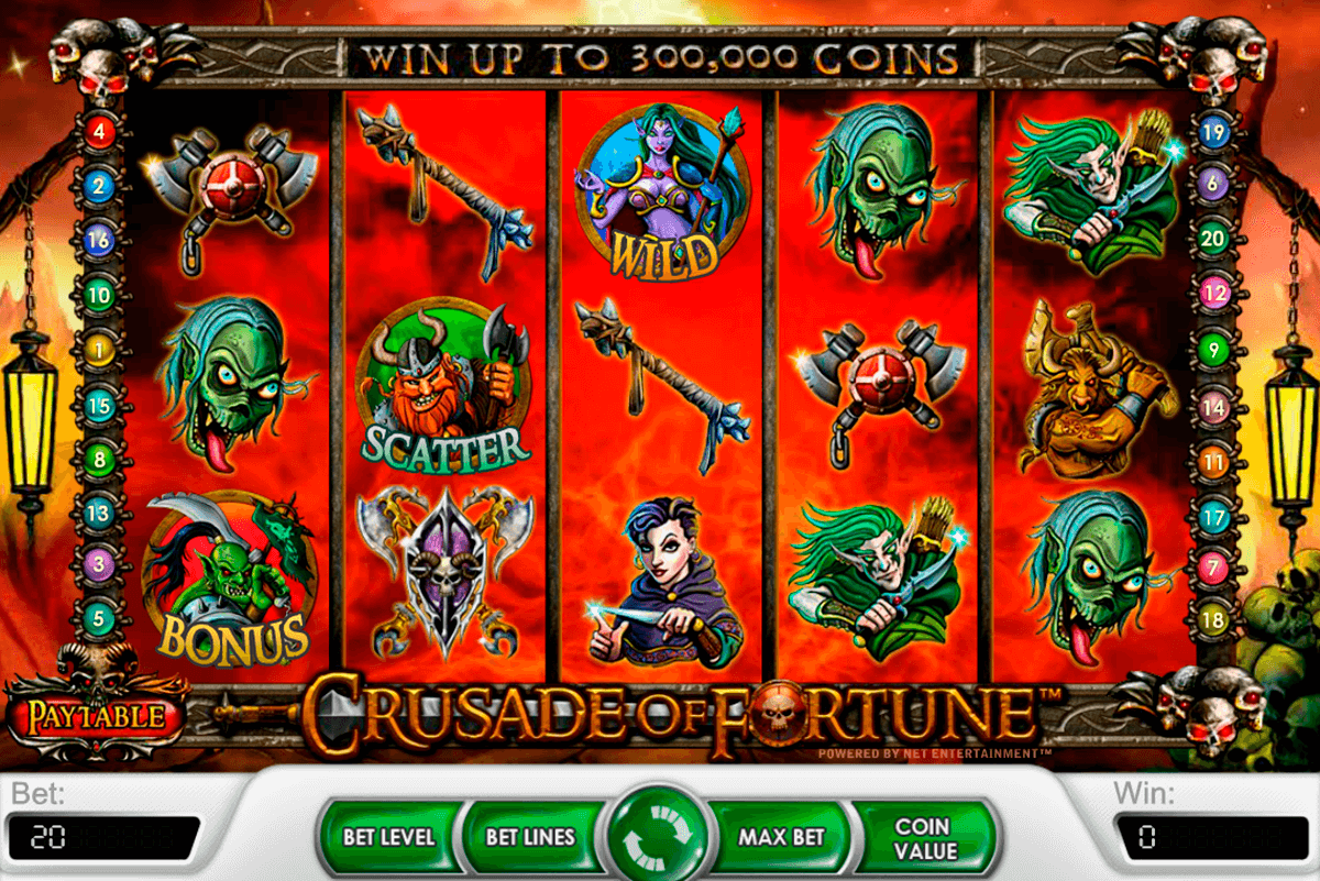 crusade of fortune netent casino slot spel