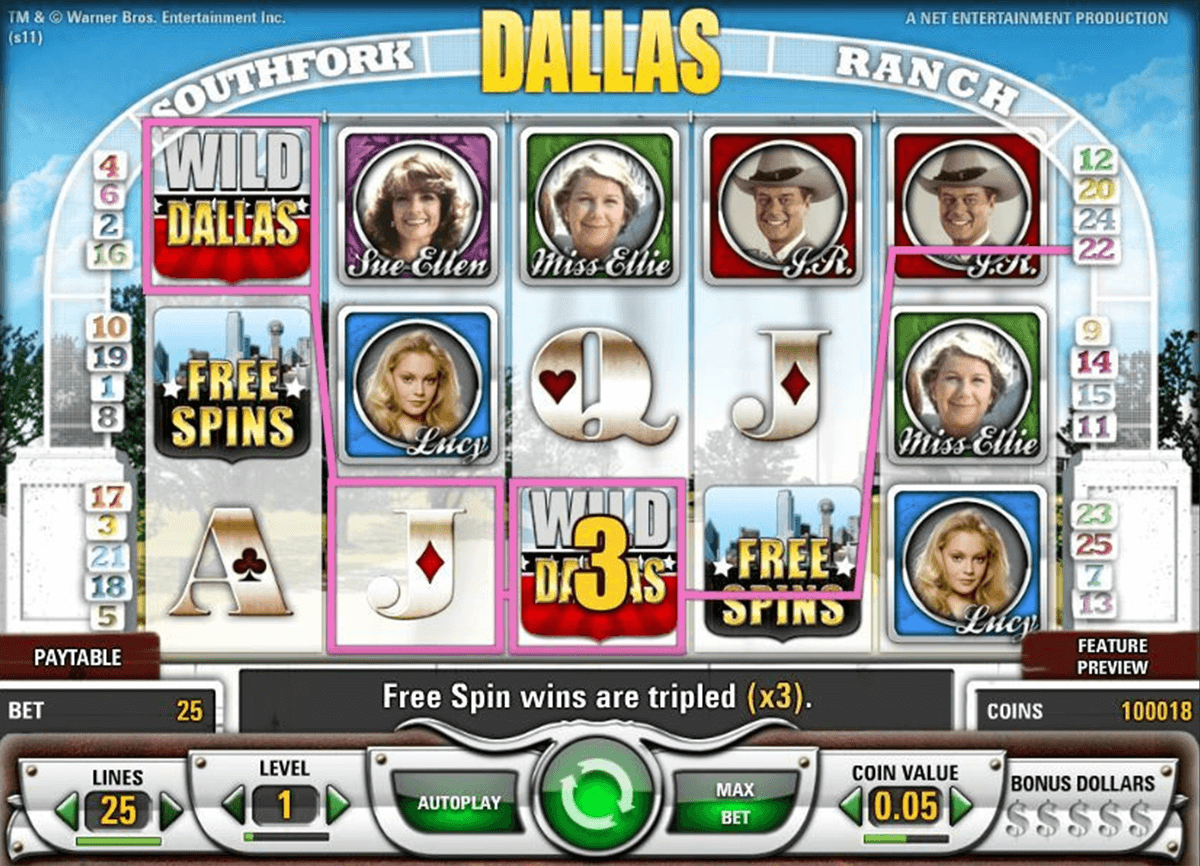 dallas netent casino slot spel