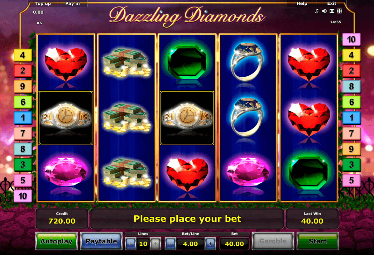 dazzling diamonds novomatic casino slot spel