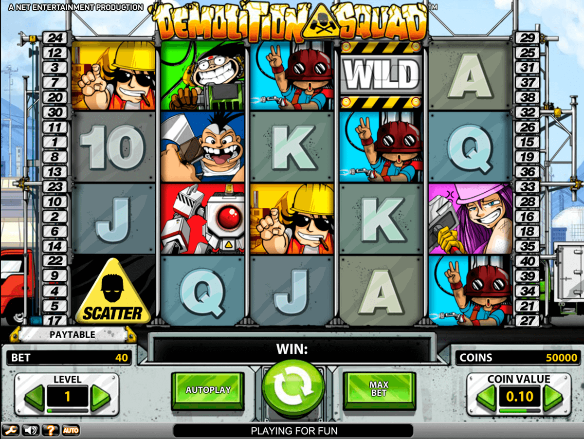 demolition squad netent casino slot spel