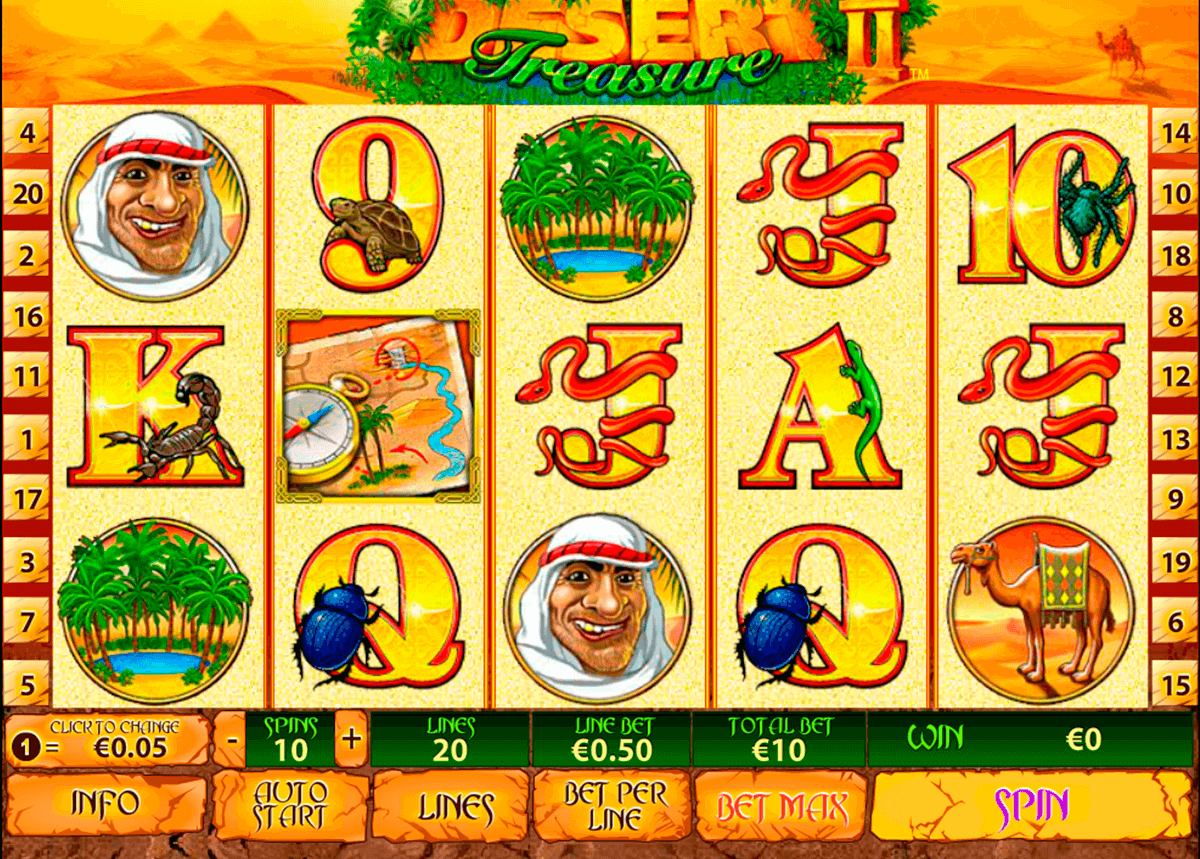 desert treasure ii playtech casino slot spel