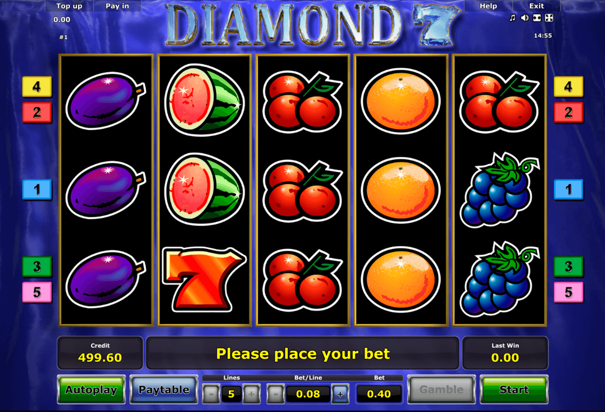 diamond 7 novomatic casino slot spel