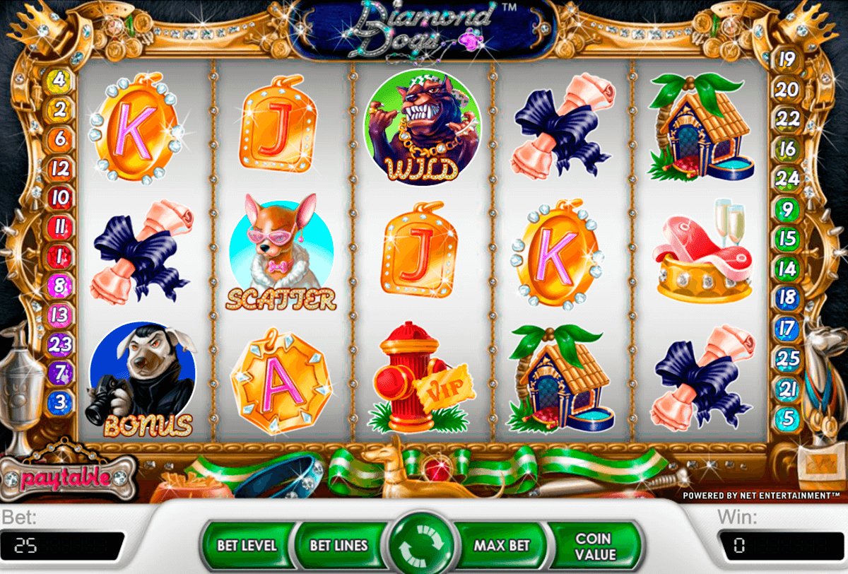 diamond dogs netent casino slot spel