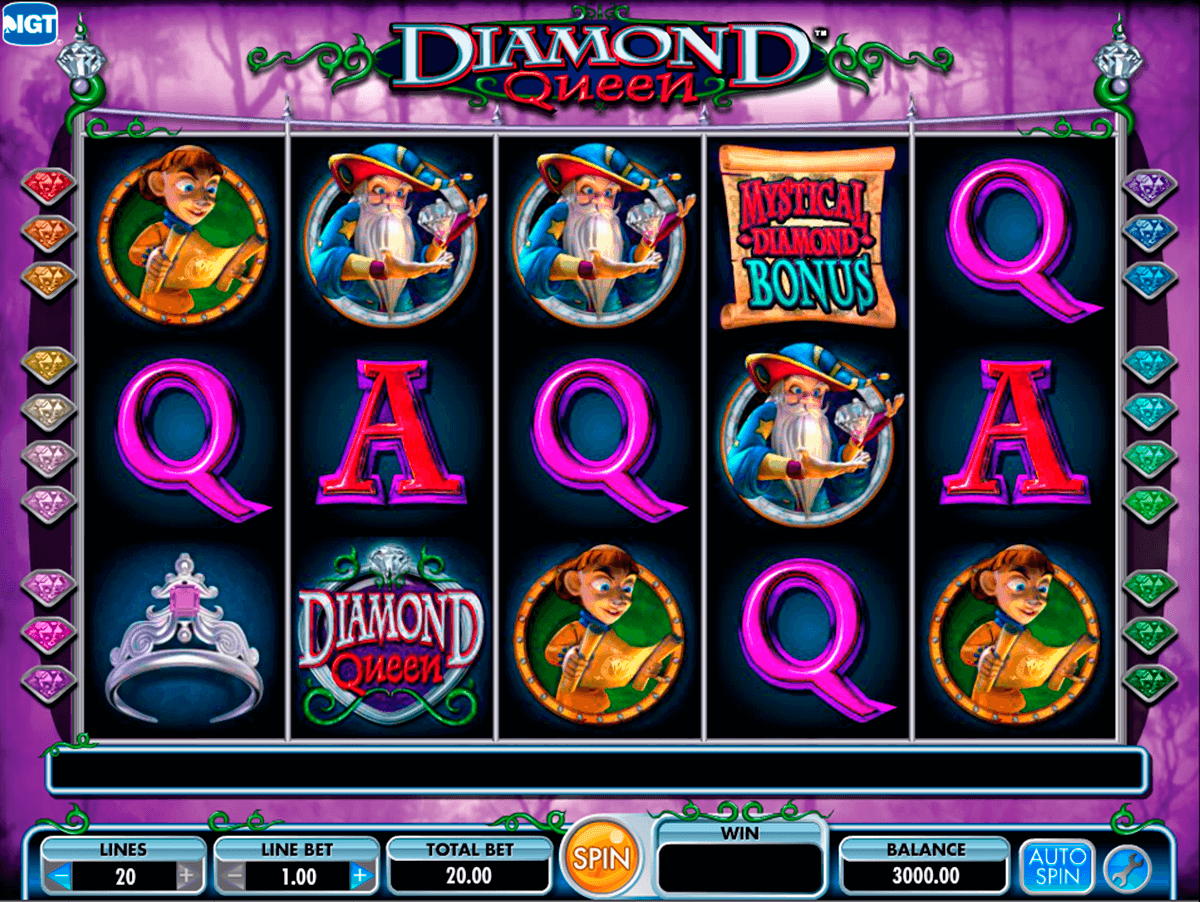 diamond queen igt casino slot spel