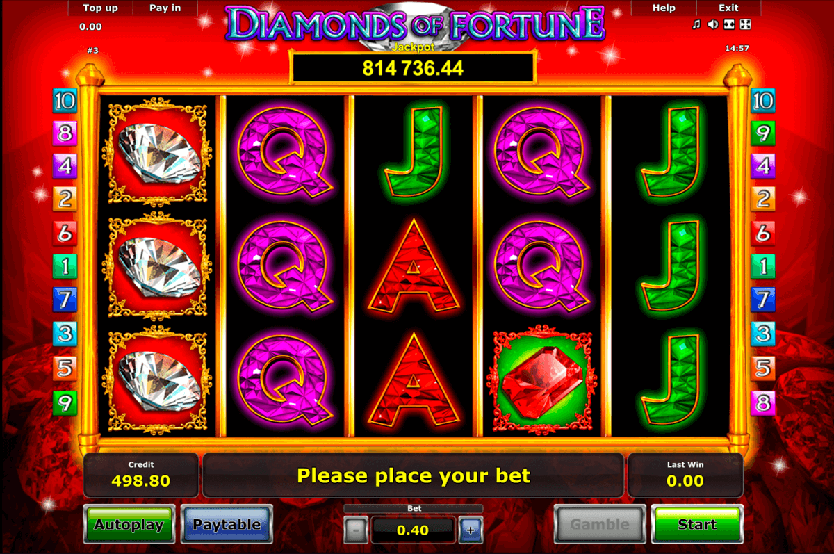 diamonds of fortune novomatic casino slot spel