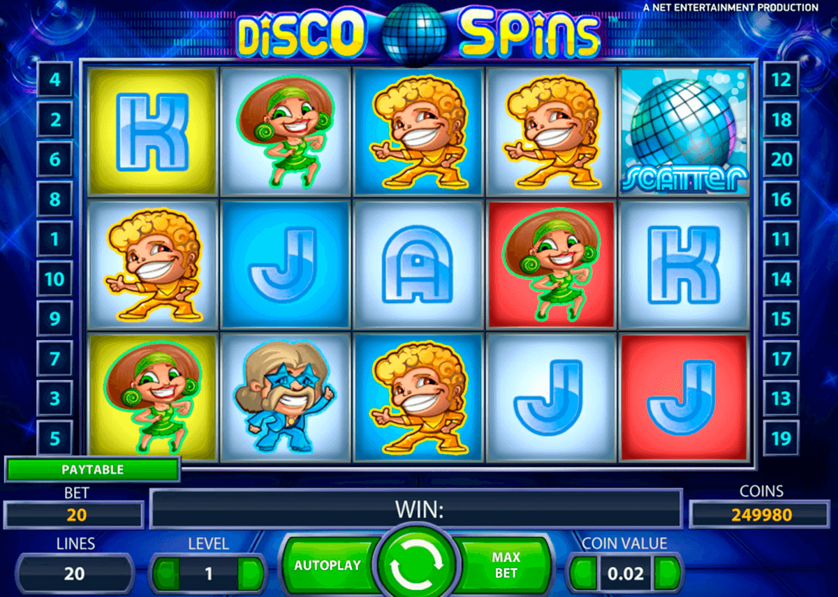 disco spins netent casino slot spel