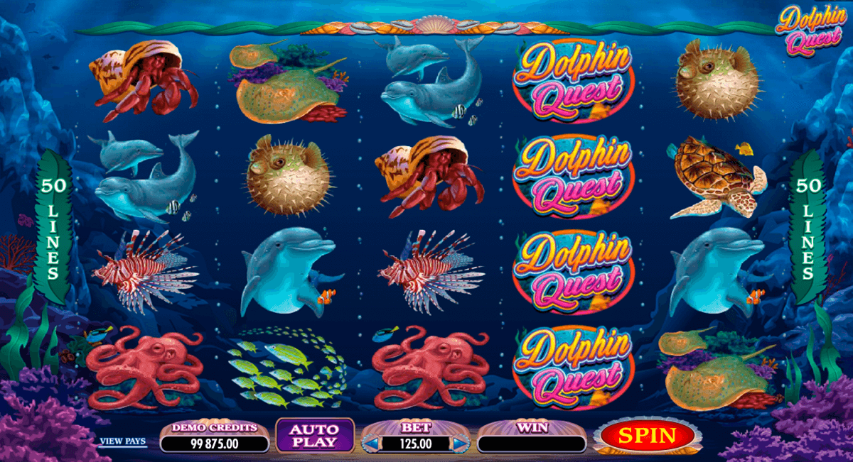 dolphin quest microgaming casino slot spel