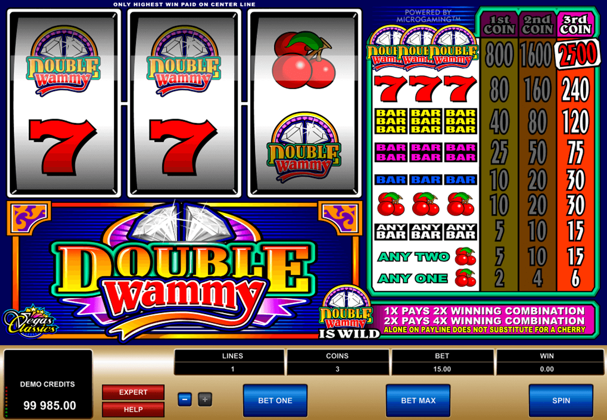 double wammy microgaming casino slot spel