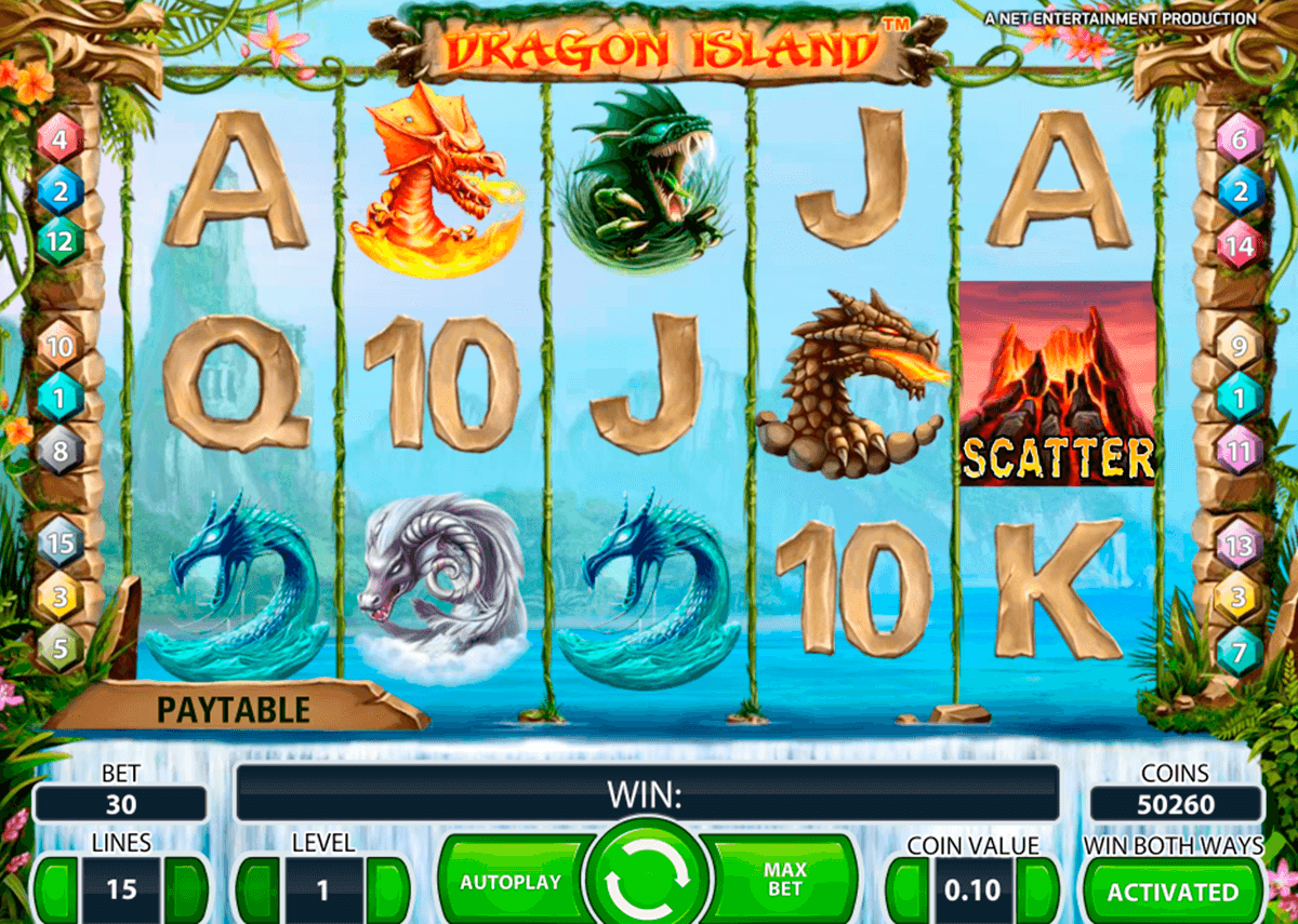 dragon island netent casino slot spel