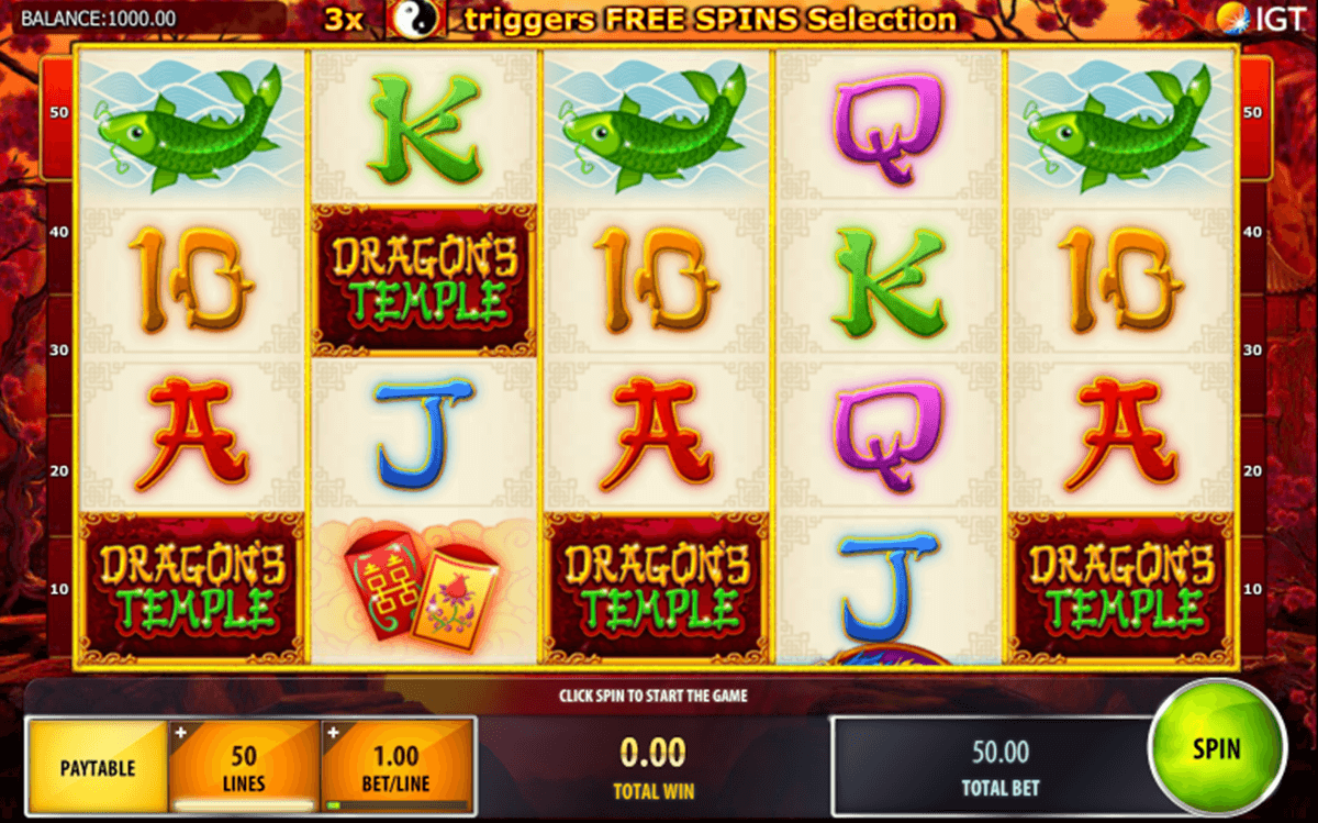 dragons temple igt casino slot spel