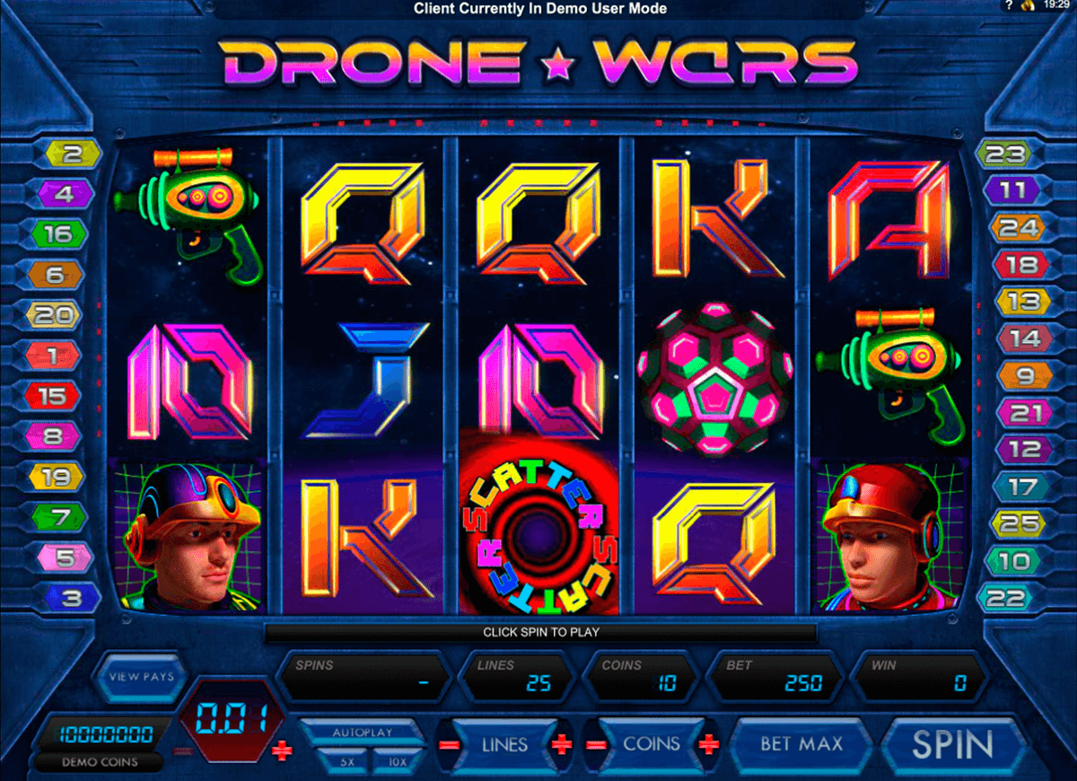 drone wars microgaming casino slot spel