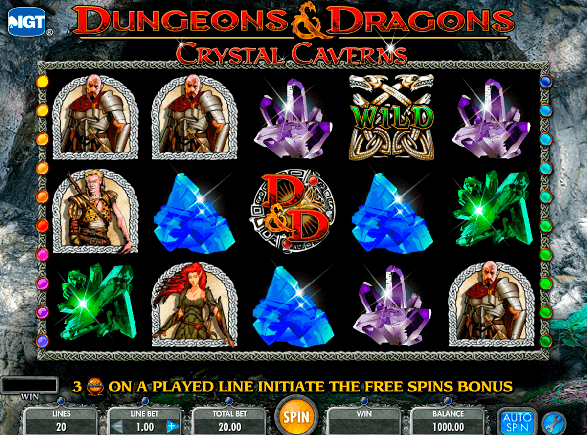 dungeons and dragons crystal caverns igt casino slot spel