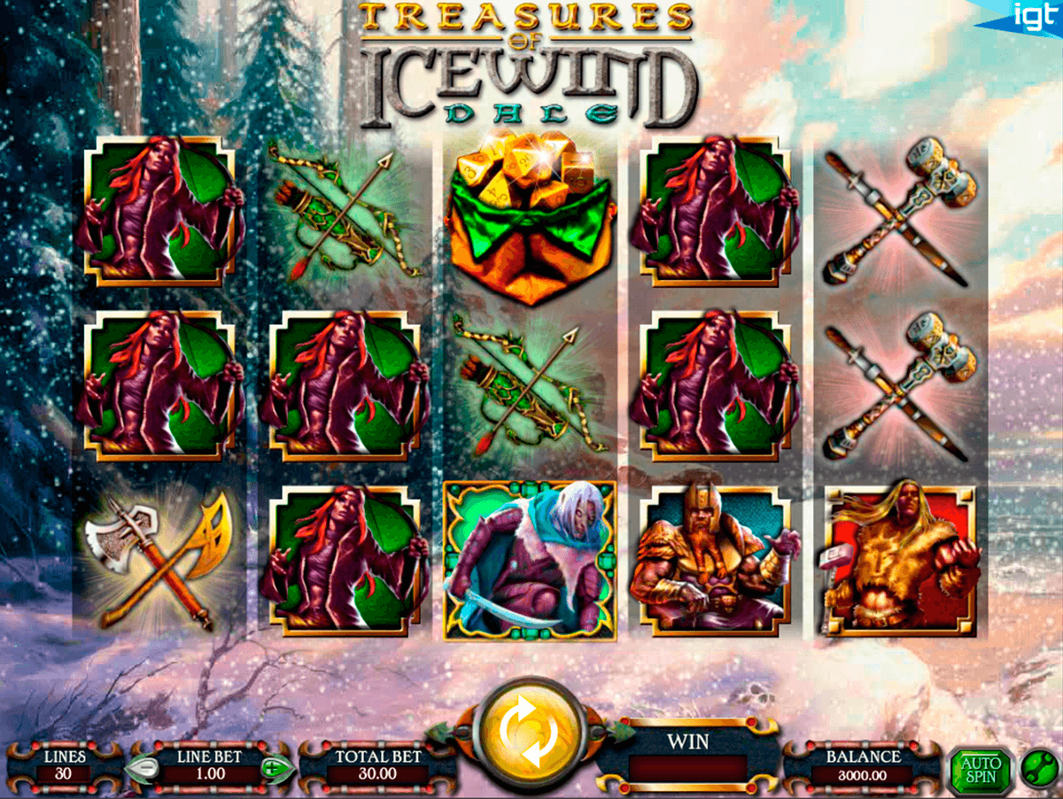 dungeons and dragons treasures of icewind dale igt casino slot spel