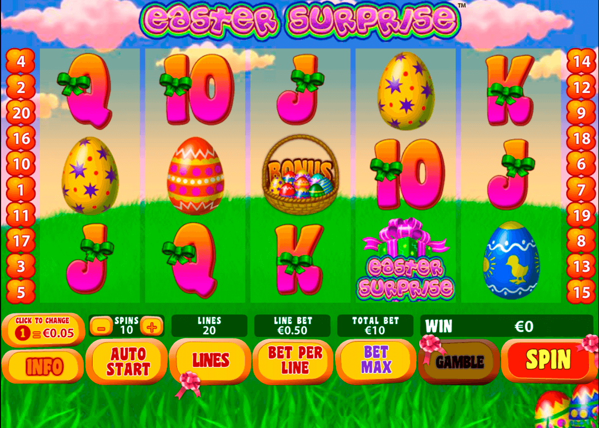 easter surprise playtech casino slot spel