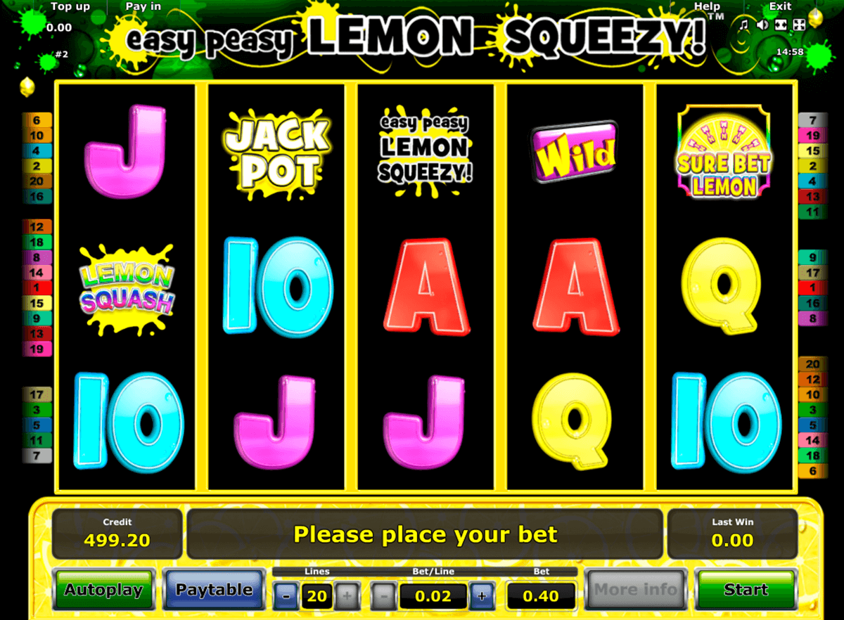 easy peasy lemon squeezy novomatic casino slot spel