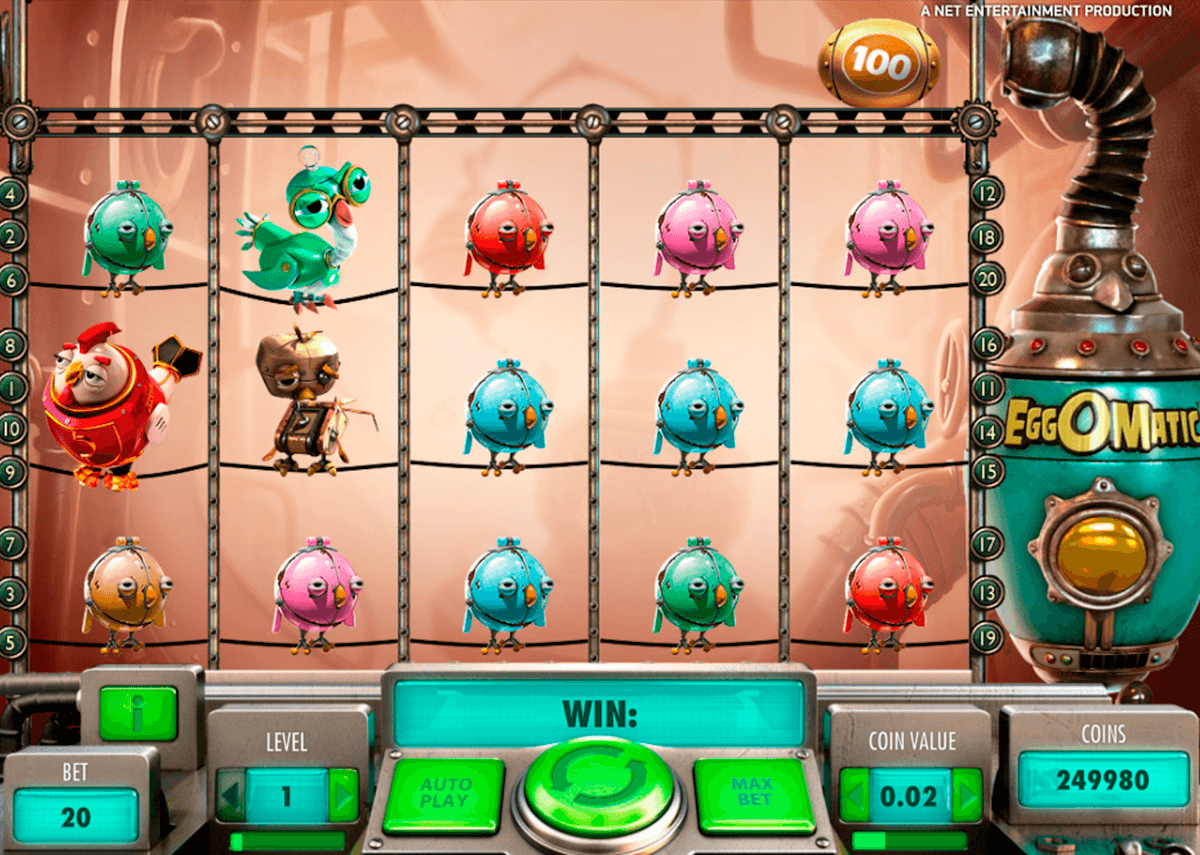 eggomatic netent casino slot spel