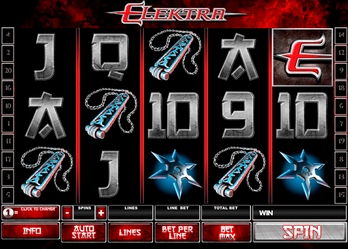 elektra playtech casino slot spel