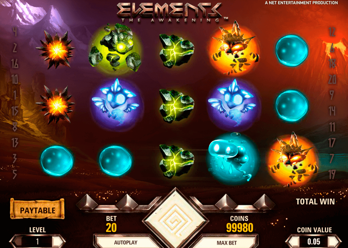 elements netent casino slot spel