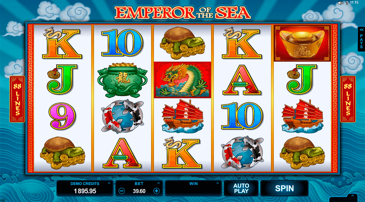 emperor of the sea microgaming casino slot spel