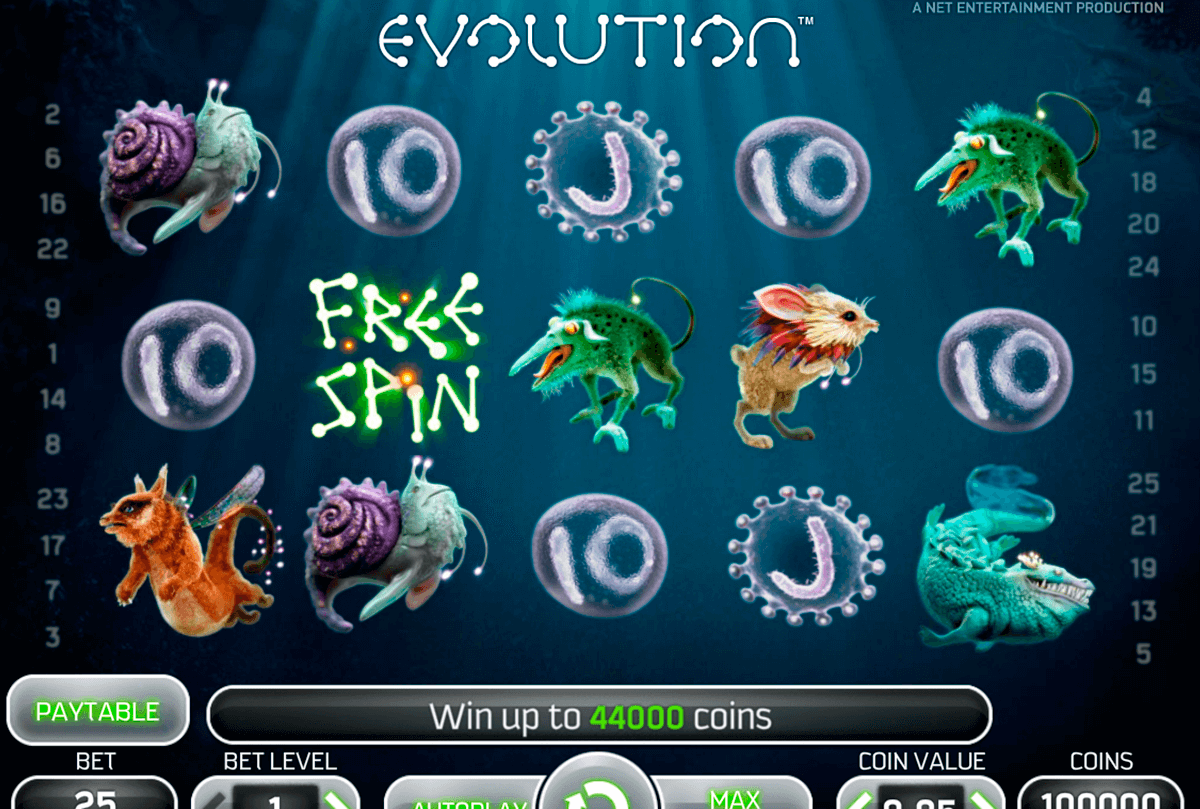 evolution netent casino slot spel