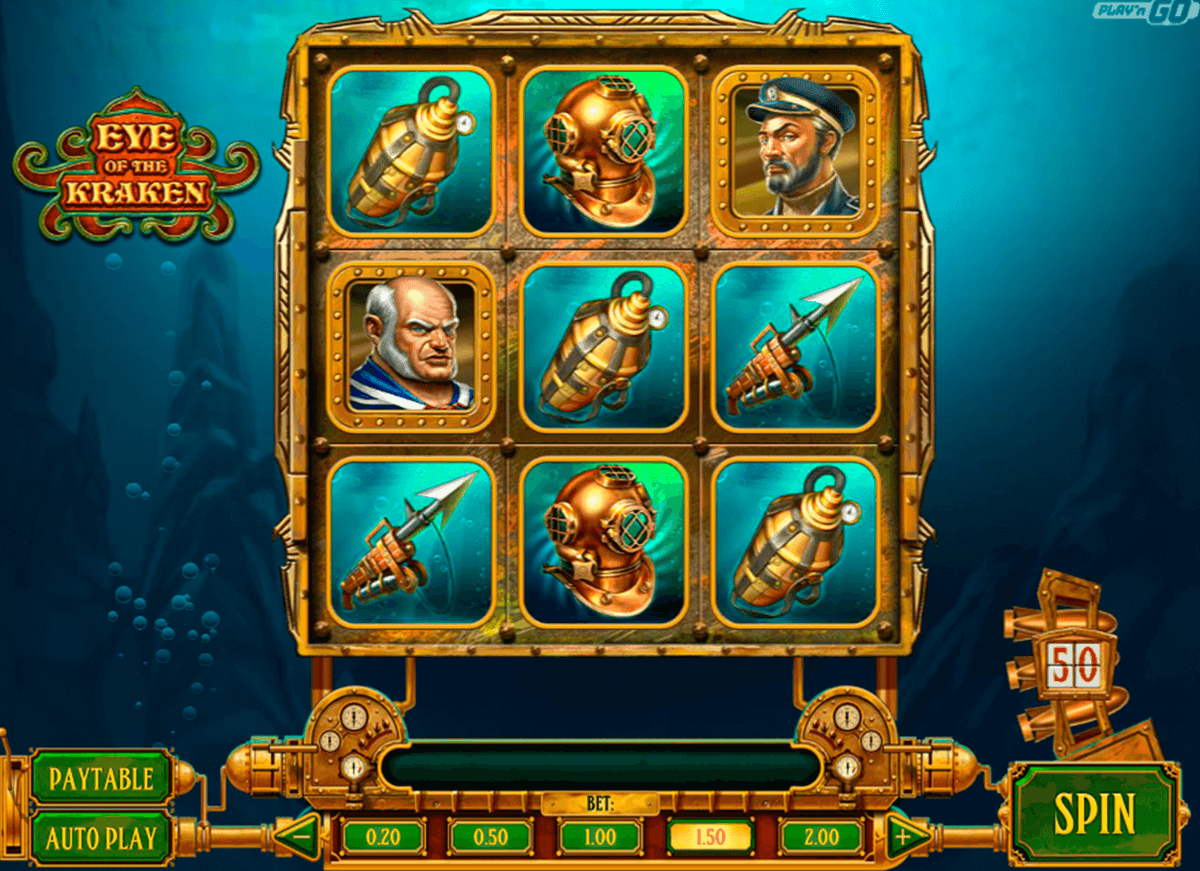 eye of the kraken playn go casino slot spel