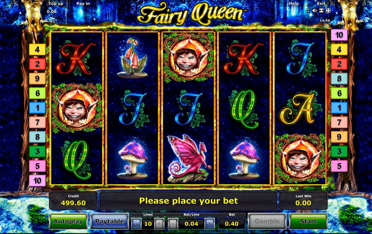 fairy queen novomatic casino slot spel